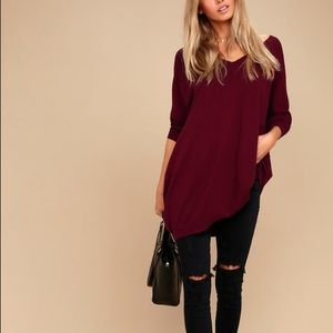 Burgundy Oversized Sweater M/L